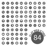 Set of web icons. Vector illustration. Set of 84 web icons. Simple, modern flat icons. Vector illustration Stock Images