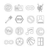 Set of web icons for website and communication Stock Photography