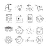 Set of web icons for website and communication Royalty Free Stock Images