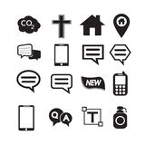 Set of web icons for website and communication Stock Image