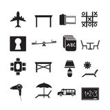 Set of web icons for website and communication Royalty Free Stock Photos