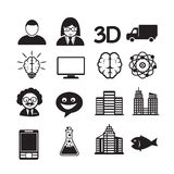 Set of web icons for website and communication Stock Photos