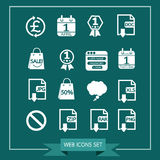 Set of web icons for website and communication Stock Images