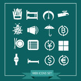 Set of web icons for website and communication Royalty Free Stock Photography