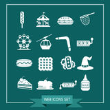 Set of web icons for website and communication Royalty Free Stock Photo
