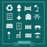 Set of web icons for website and communication Royalty Free Stock Image