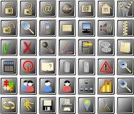Set Web-Ikonen Stockfoto