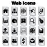 Set Web-Ikonen stock abbildung