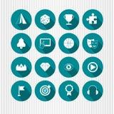Set Web-Ikonen Stockfotografie