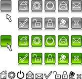 Set Web-Ikonen. Stockbild