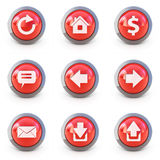 Set of web interface 3d buttons. High detailed Set of web interface 3d buttons isolated on white Royalty Free Stock Images