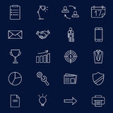 Set of web linear icons for business, finance and communication. Vector illustration.  Stock Image