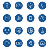 Set of web linear icons for business, finance. And communication. Vector illustration Royalty Free Stock Photography