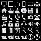 Set of web and media icons Royalty Free Stock Photos