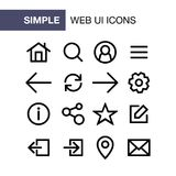 Set of web and mobile application icons for simple flat style ui design vector illustration
