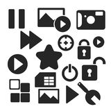 Set of web and mobile icons. Vector. Royalty Free Stock Photo