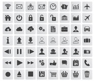 Set of web, multimedia and business icons Royalty Free Stock Photography