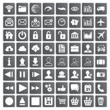 Set of web, multimedia and business icons Stock Photos