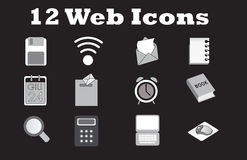 Set web office icon Stock Photography