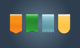 Set of Web Ribbons Stock Image