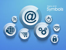 Set of web signs and symbols. Stock Photography