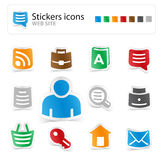 Set web site stickers icons Royalty Free Stock Photo