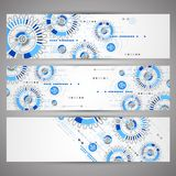 Set of web tecnology theme banners for your web site Royalty Free Stock Photography