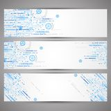 Set of web tecnology theme banners for your web site Stock Images