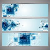 Set of web tecnology theme banners for your web site. Abstract technology concept of business background. Vector Stock Photo