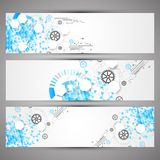 Set of web tecnology theme banners for your web site Royalty Free Stock Photos