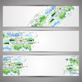 Set of web tecnology theme banners for your web site Royalty Free Stock Images