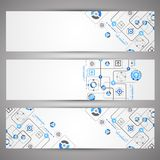 Set of web tecnology theme banners for your web site Stock Photo