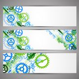 Set of web tecnology theme banners for your web site. Vector Royalty Free Stock Photo
