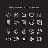 Set of web thin lines icons home  illustration Royalty Free Stock Photography