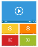 Set of web video players Stock Images