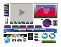 Set of webdesign banners and buttons 1 Royalty Free Stock Image