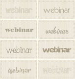 Set webinar banners, vector Stock Images