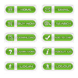 Set of website buttons Royalty Free Stock Photography