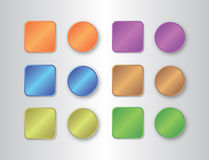 Set of website buttons Royalty Free Stock Photos