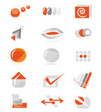 Set of website elements Stock Image