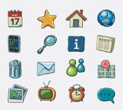 Set of website icons Stock Photos