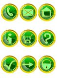Set of 9 website icons Royalty Free Stock Images