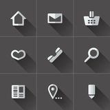 Set of website menu icons. Flat design Stock Photography