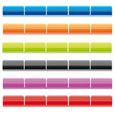 Set of website navigation bars. Collection of shiny website navigation bars in different colors isolated over white Royalty Free Stock Images