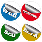 A set of website stickers Royalty Free Stock Photos