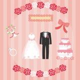 Set of wedding Royalty Free Stock Images