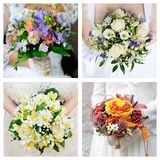 Set of wedding bouquets Royalty Free Stock Image
