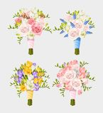 Set of wedding bouquets Stock Photography