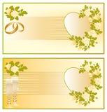 Set wedding card,  Royalty Free Stock Image
