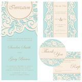 Set of wedding cards Stock Image